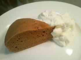トースターでふわり☆チョコスポンジケーキ
