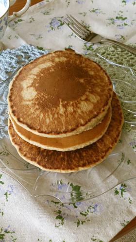 ふわふわ☆ライ麦粉と米粉パンケーキ