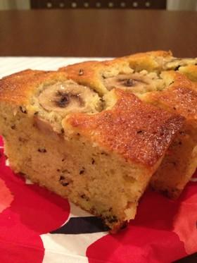 バナナとアールグレイのパウンドケーキ
