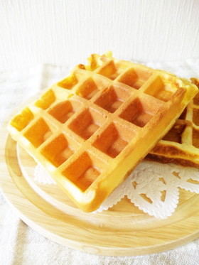 バター不使用*簡単アメリカンワッフル