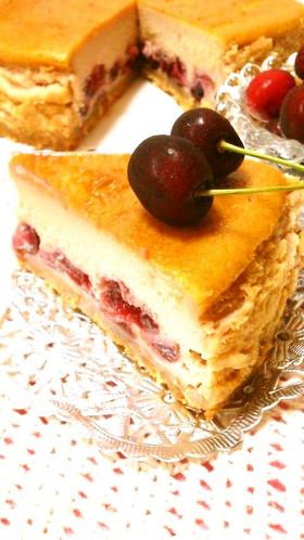 アメリカンチェリーのベイクドチーズケーキ