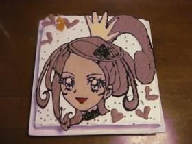 プリキュアキュアソードのキャラケーキ