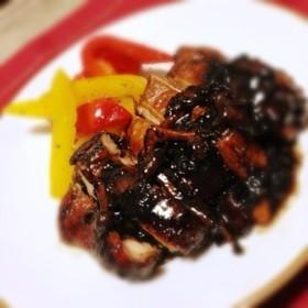 ☆鶏肉とキノコのバルサミコソテー☆