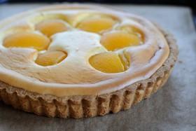 黄桃のチーズケーキタルト