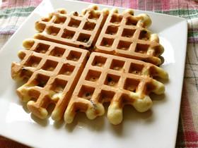 ブルーベリーワッフル☆簡単サクサク美味
