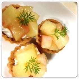 桃のタルト‼夏休み子どもレシピ