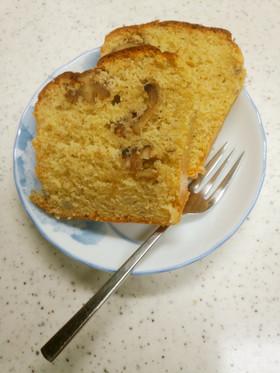 HKMでくるみとバナナのパウンドケーキ