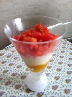 トマトのミルクプリン☆離乳食後期