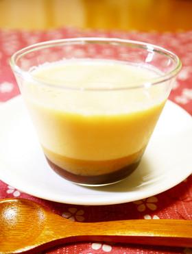 夏のデザートに☆きな粉あずき豆乳プリン