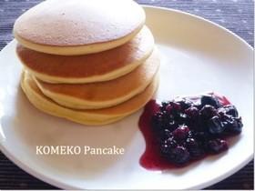 糖質OFF☆大豆粉と米粉のパンケーキ