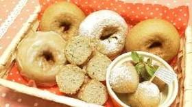 黒胡麻(ごま)ハチミツでドーナッツ