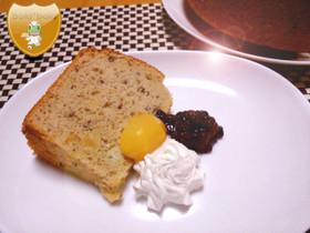 9月のデザート☆栗と小豆のシフォンケーキ