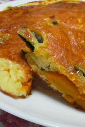 さつま芋・南瓜のレモン煮をホットケーキに