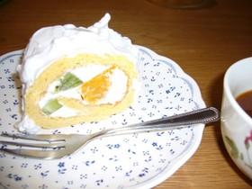 簡単ロールケーキ