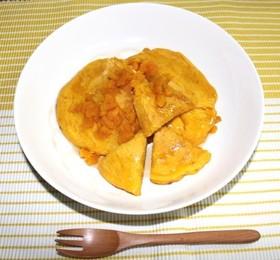 オレンジ酢とカボチャのパンケーキ