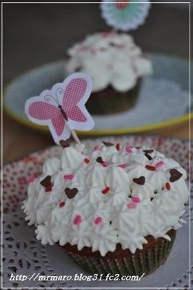 ブルーベリー カップケーキ