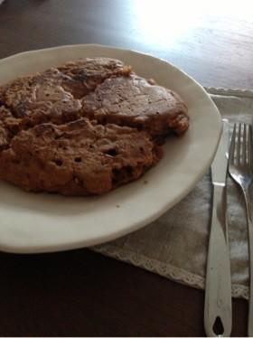 卵なし黒糖きな粉ふわふわパンケーキ