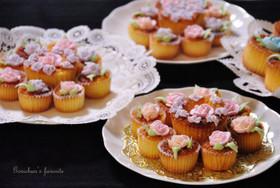 お花のミニカップケーキ(アイシング)
