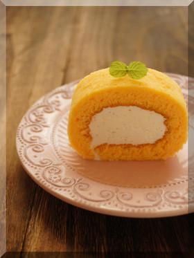 * チーズクリームのロールケーキ♪