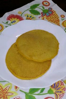 かぼちゃパンケーキ★卵・牛乳・大豆なし
