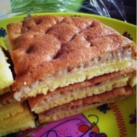 プレーンとジャム入りパンケーキ♡