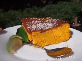 ハロウィン特製! カボチャのチーズケーキ