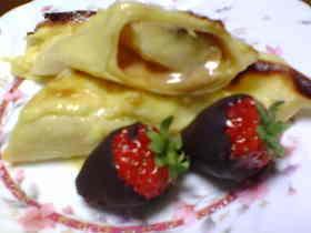 キャラメルバナナのベークドクレープ