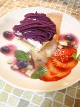紫芋で簡単モンブラン♪