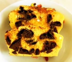 ビターチョコ&大豆粉で簡単パウンドケーキ