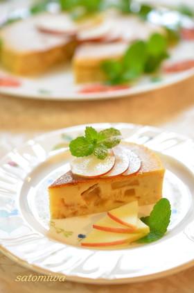 林檎&チーズのプリン風ケーキ✿