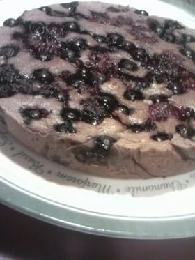 ミックスチョコフルーツチーズケーキ