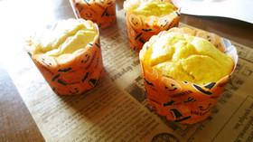 かぼちゃとさつま芋ハロウィンカップケーキ
