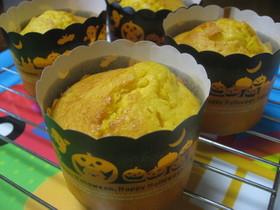 ハロウイン☆かぼちゃカップケーキ