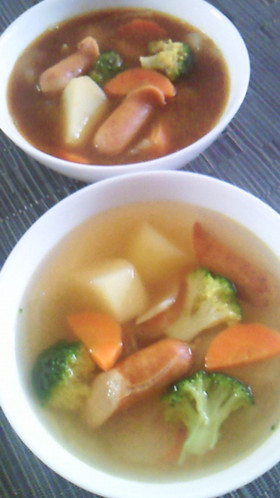 ポトフで★ふたつの味★スープカレー