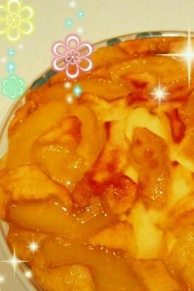 簡単☆りんごのキャラメルホットケーキ♪