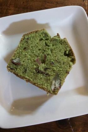 栗の渋皮煮入り★抹茶のパウンドケーキ