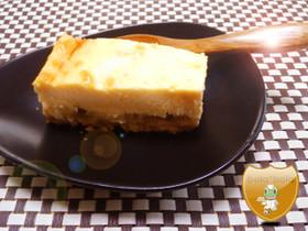 11月のデザート☆煮リンゴ入チーズケーキ