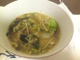 生姜と唐辛子☆あったか中華スープ