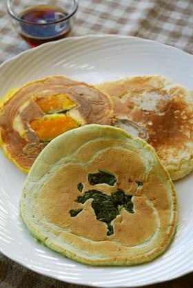 ヘルシー♪3種の野菜と豆乳のパンケーキ