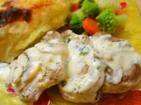 フィレミニョン豚フィレ肉のクリームソース