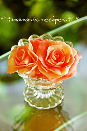 バレンタイン本命デコに♡簡単チョコの薔薇