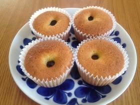 大きな栗のカップケーキ