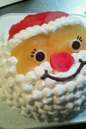 クリスマスケーキ  りんごで♪♪