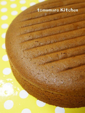 共立て❤20㎝型ココアスポンジケーキ