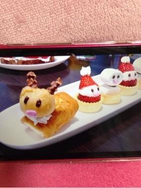 クリスマスケーキプレート