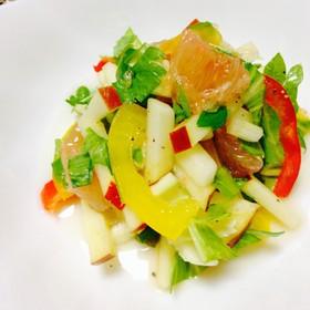 リンゴとグレープフルーツのサラダ