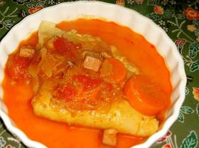 パーティ翌日・クレープのトマト煮