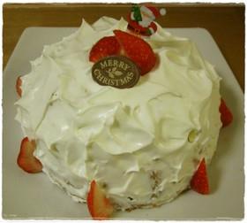 クリスマス☆イチゴドームチーズケーキ