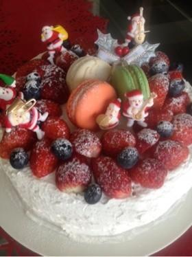 シフォンのクリスマスケーキ