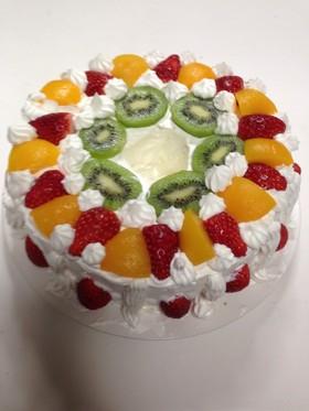 シフォンデコレーションケーキ